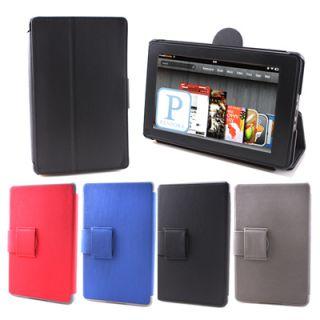 Black Slim Fit Flip Folio Hard Canvas Case Cover Stand for  7