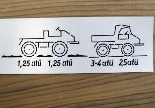 Aufkleber Luftdruck klein Sticker Unimog 411 2010 A64
