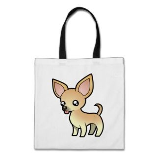 Cartoon Chihuahua (fawn smooth coat) bags by SugarVsSpice