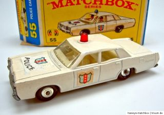 Matchbox RW 55D Mercury Police Car ROTE Leuchte in Box