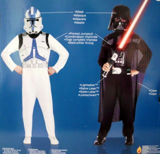Star Wars Kostüm Set Darth Vader & Clone Trooper 8 10 J
