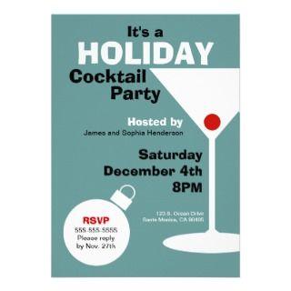 Retro Modern Holiday Party Invitation