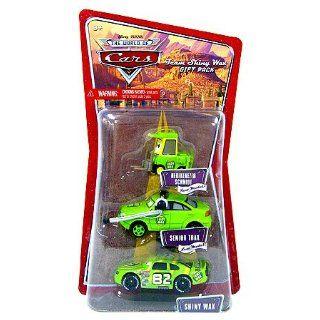 Disney Pixar Cars   3 pack   Shiny Wax / Senior Trax / Nebekenezer