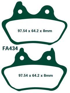 EBC Bremsbeläge FA434 Hinterachse HARLEY DAVIDSON FLSTF/FLSTFi Fat