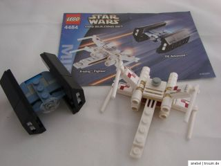 Lego Star Wars 4484 MINI X Wing Fighter & TIE Fighter Advanced + BA