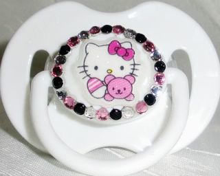 Baby Avent Hello Kitty Strass Schnuller Pacifier Luxus Design Handmade