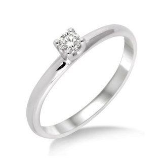Miore Damen Ring 375 Weißgold mit Brillant 0.10ct M9013RM Gr. 52