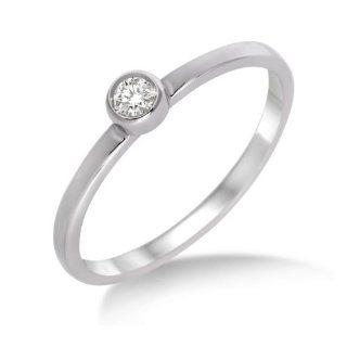Miore Damen Ring 375 Weißgold mit Brillant 0.04ct M9011RM Gr. 52