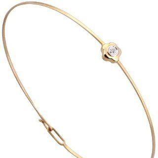 Eleganter 9 Karat (375) Gold Damen   Diamant Armreif Brillant Schliff