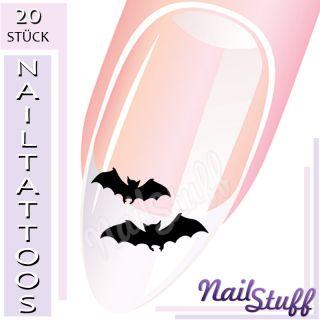 20 NAIL ART TATTOOS Nagel NailTattoos FLEDERMÄUSE #2