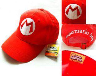 Super Mario & Luigi Baseball Cap Kappe Rot/Grün Cosplay