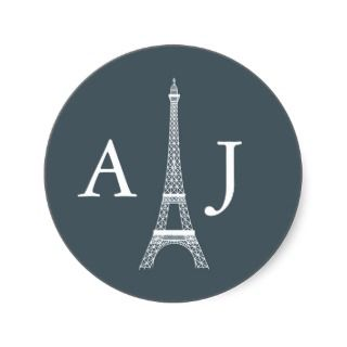Eiffel Tower Monogram Sticker