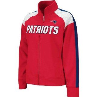 New England Patriots Womens Reebok Bonded Full Zip Track Jacket