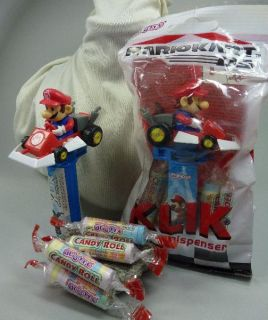 Super Mario Kart Ds Spiel Figur Auto + candy dispenser Bonbon Spender