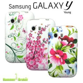 3x SET DESIGN TPU CASE SAMSUNG GALAXY Young S5360 COVER SCHUTZ HÜLLE