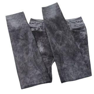 Jeans Stretch Treggings Leggings Jeggings Damenleggings Sexy schwarz
