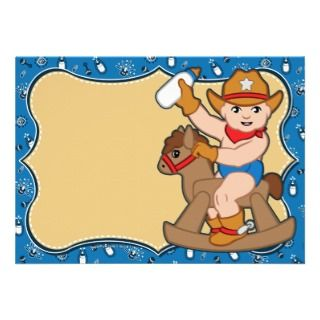 Western Cowboy Baby Shower Invitations