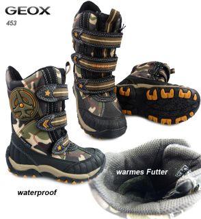 H453 NEU GEOX ALASKA Winter Stiefel WATERPROOF camouflage Gr.26 34