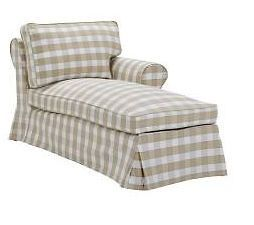 ... IKEA EKTORP Right Hand Chaise Slipcover Bergvik Beige,NEW ...