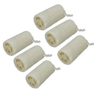 Lot 6 Natural Bath Body Loofah Towel Wipe Pot Scrub Sponge