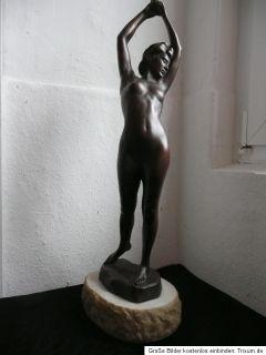 Bronzeskulptur*sich streckende Grazie*ORIG.*v. Dezső Lányi