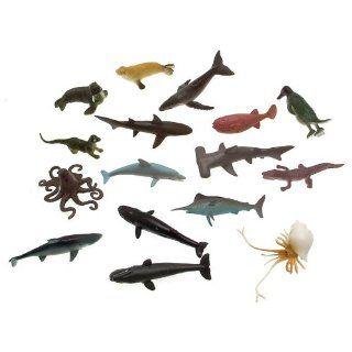 Plastic Figuren   Wassertiere   Hai Wal und Tintenfisch und mehr