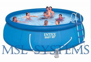 Intex EASY POOL SET mit Filterpumpe 457 x 122 Schwimmbad Abdeckplane