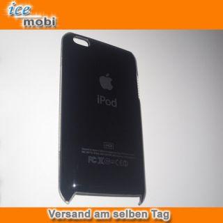 iPod Touch 4 Hard Case Tasche Hülle Cover Luxus Schwarz + SchutzFolie