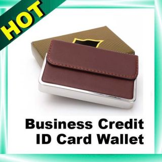 Stylish ID Business Credit Card Holder Wallet Stainless Steel