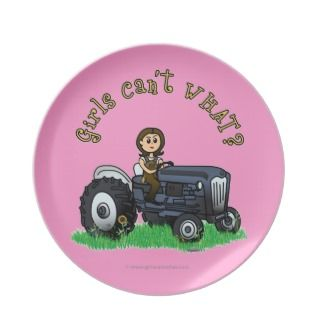 Light Blue Farmer Girl Party Plates