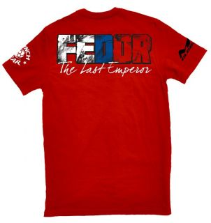 Clinch Gear Fedor Emelianenko T Shirt MMA Strikeforce