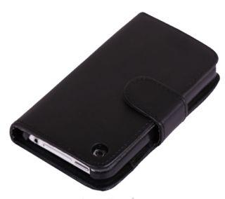 3GS Portmonee Portemonnaie Leder Tasche Hülle Wallet Case Black #457