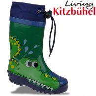 Living Kitzbühel Gummistiefel 2171 lustiges Krokodil grün blau Gr