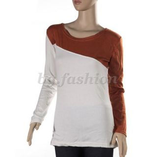 New Korea Ladies Slim Long Sleeve Crew Neck T Shirt Blouse Top 5 Color