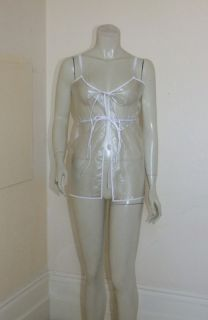 PVC Baby Doll Dress Mini Near Clear Negligee Vinyl S Top Roleplay