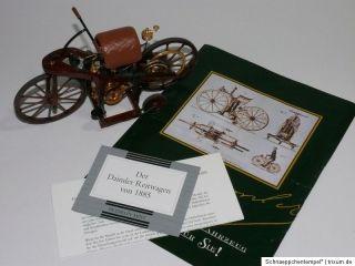 FRANKLIN MINT Modellauto 18   Daimler Reitwagen 1885 •