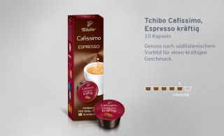32€/100g) Tchibo Cafissimo Espresso 10 Kapseln   NEU