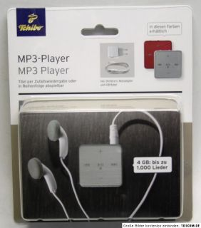 Tchibo MP3 Player 4 GB NEU   SILBER