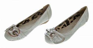 Damen Ballerinas Schuhe flach Weiß Grau Braun Pumps Ballerina Pumps