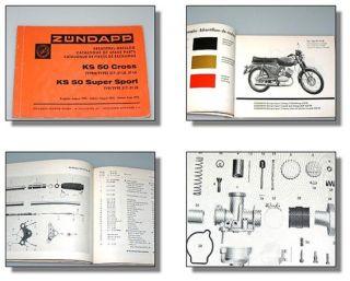 Zündapp KS 50 Cross & Super Sport Ersatzteilkatalog Art. 15246