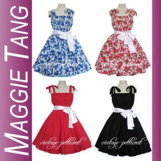50er 60er Jahre Tanz Kleid zum Petticoat Rockabilly 506