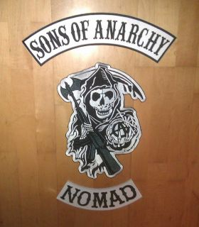 Sons of Anarchy SOA SAMCRO Redwood COLOR NOMAD Aufnäher Patches XL