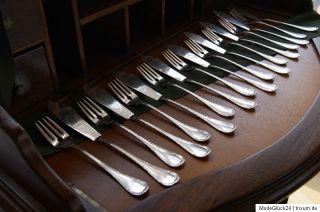 Bruckmann 800er Silber/silver Fischbesteck/Fish Set Jugendstil/Art