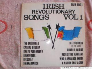 Vinyl LP   Irish Revolutionary Songs Vol 1   DUB 8001   1973