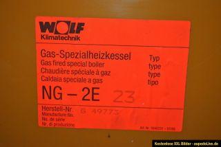 Wolf Gas Kessel NG 2E 23kw mit Regelung und Zeitschaltuhr