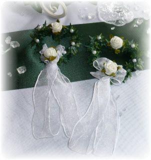 Tischdeko Efeu Herz Hochzeit Taufe Kommunion Rosa
