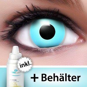Farbige Kontaktlinsen Komplettset Blue Eyes