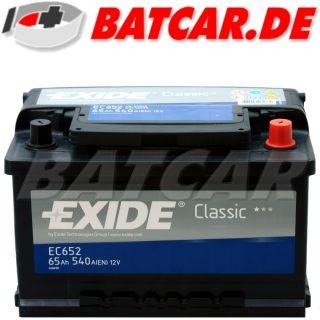 Autobatterie EXIDE CLASSIC 12V 65Ah 540A/EN PREMIUM BATTERIE