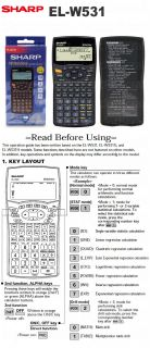 Sharp Scientific Calculator EL W531 ELW531 074000071674