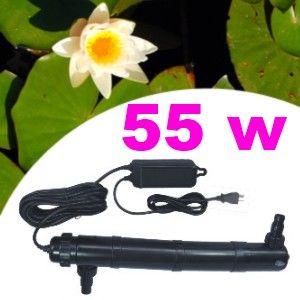 Filtre UV 55 watts pour aquarium ou bassin de jardin